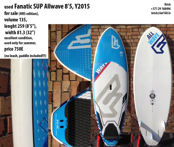 For_sale_Fanatic_SUP_Allwave_2015_8'5